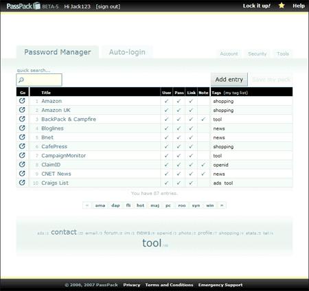 PassPack Screenshot - Password Manager