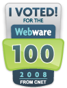 I Voted for the 2008 Webware 100
